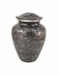 VM Handicraft Urns Regent Black And Silver Cremation Urn Traditional Funeral Urn Adult Sized