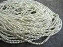 Faux Pearl Golden Color 8 Mm Beads Strand 16 Inch Long Jewelry Making Off White Golden Pearl Beads