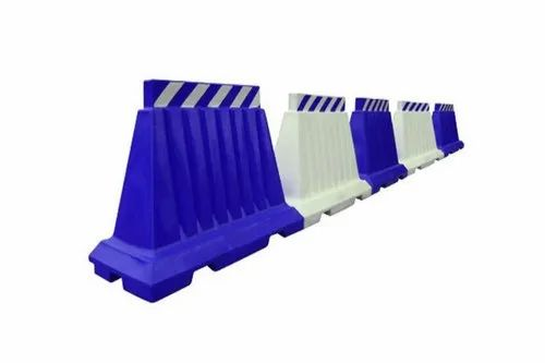 Blue,White PVC Road Safety Barrier, 15kg, Size: 5feet(Length),   ID:  13110667573