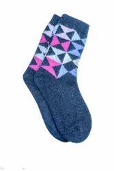 VP Oswal Ladies Blue Woolen Socks