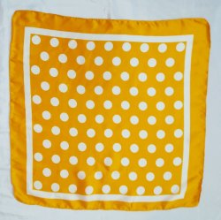 100% Satin Polkadot Printed Yellow Bandana