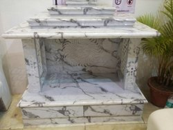 White PVC Marble Temple, For Home, Size: 2x2x5 Feet