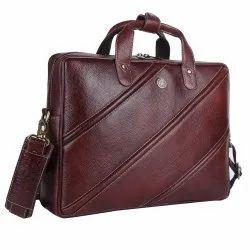 Hammonds Flycatcher Genuine Leather Brown Laptop Messenger Bag LB183