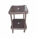 584 Mm X 457 Mm X 889 Mm Brown Everest Plastic Center Table With Wheel