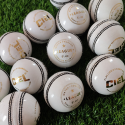 CIEL White League Leather Cricket Ball