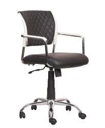 Mid Back Leatherette Office Chair Black (VJ-2030)