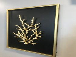 Ocean Coral Shadow Box Metal Wall Art