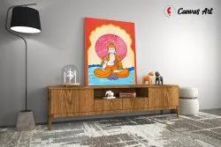 Wooden Buddha God Canvas Photo Frame