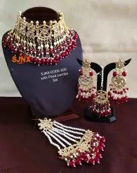 Ruby Traditional Necklace Set, Occasion: Wedding