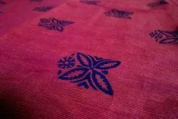 Blue And Maroon Printed Cotton Fabric Printing Service, Pan India