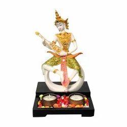 Decorative Buddha Statue Tea Light Stand