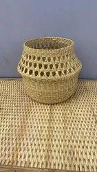 Belly Basket Made Of Kouna Grass