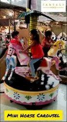 FRP Round Mini Horse Carousel Ride 3
