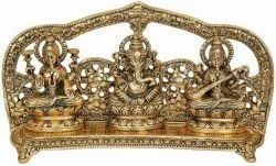 Gold Plated Laxmi Ganesh Statue For Home Tample & Diwali Corporate Gifts