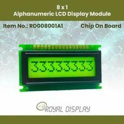 8x1 LCD Display Modules