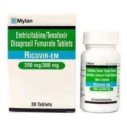 Ricovir-Em (Emtricitabine 200 Mg + Tenofovir Disoproxil Fumarate 300 Mg)