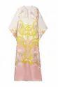 Style Printed Satin Silk Kaftan For Women