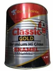 Goyal Paints High Gloss Classic Gold Premium Enamel Paint, Packaging Type: Container, Packaging Size: 4 Litre