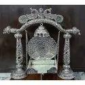 Metal Silver Plated Laddu Gopal Jhulla For Home Tample Krishna Janmastmi Swing