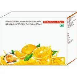 Probiotic Strains, Saccharomyces Boulardii & Prebiotics (fos) Eith Zinc Enriched Yeast Sachet