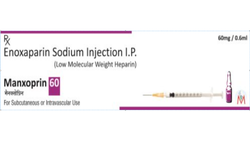 Manxoprin-60 Enoxaparin Injection 60 mg/0.6 ml