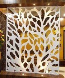PAINTABLE MDF Decorative Jali, 2D,3D, Size/Dimension: 8x4 Feet (lxw)