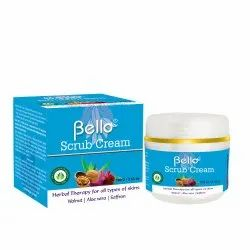 Cream Bello Face Scrub, For Parlour, Packaging Size: 100 Gms