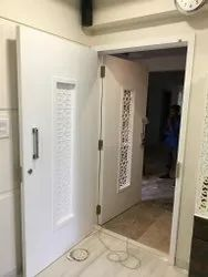 White Corian Acrylic Solid Door, Size: 7 X 3.5feet