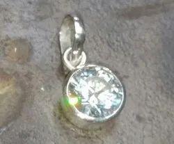 Round Silver, Gold Moissanite Diamond Jewelry, Weight: 2 Gram