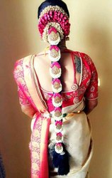 Pink Themed Bridal Hair Makeup Set