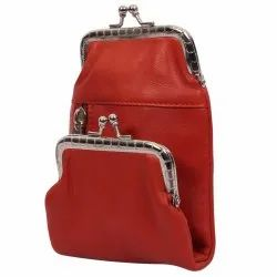 Jhanji Exports Red Leather Bag, Size: Standard