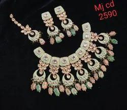 Meenakari Kundan Choker Necklace