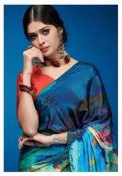 Art Silk Digital Print Saree