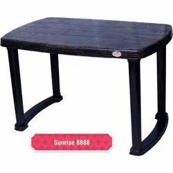 Black Plastic Dining Table