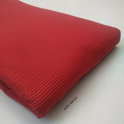Maroon Plain Cotton Katha Fabric