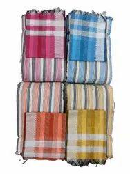44inch Ladies Striped Cotton Kurti Fabric, Pink