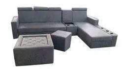 7 Seater L Shape Grey Sofa Set