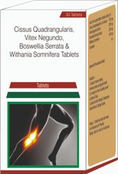 Cissus Quadrangularis, Vitex Negundo, Bosewellia Serrata & Withania Somnifera Tablets