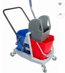 Double Bucket Wringer Trolley 34 Liters