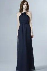 Party Wear Women Blue Long Gown
