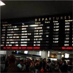 Photo Video LED Departure Board, Wall Mounted