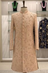 Golden Wedding Wear Groom Sherwani