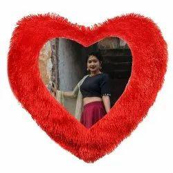 Plain Heart Shape Red Sweetheart Pillow
