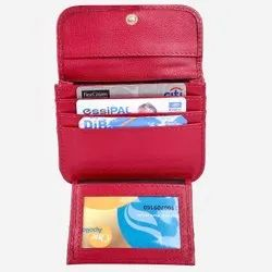 Red SN 007 Ladies Leather Wallet