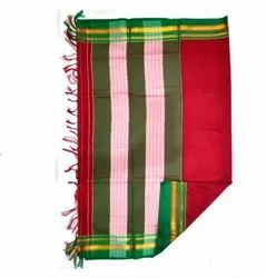 Cotton Ilkal Border Patti Pallu Plain Saree