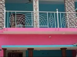 Silver Stainless Steel Balcony Railing, For Home
