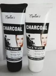 Captain's Black Herbal Charcoal Face Wash, Gel, Packaging Size: 100 Ml