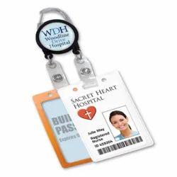 Rectangular One Sided Hospital ID Card, 5g, 1.5 X 3 Inch
