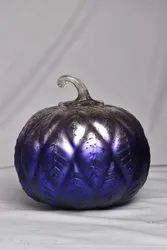 Painting Decorative Glass Pumpkin, For Home Decoration, Size/Dimension: 8 Inch