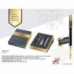Parker Aster Matte Black GT RB pen with Card Holder